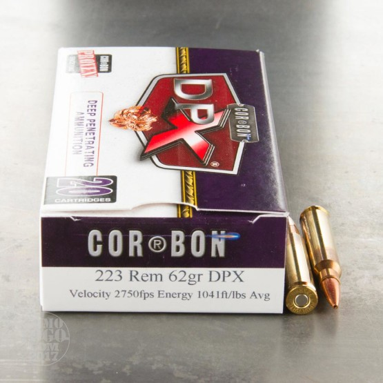 20rds - .223 Corbon DPX 62gr. HP Ammo