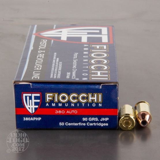 50rds - 380 Auto Fiocchi 90gr. Hollow Point Ammo