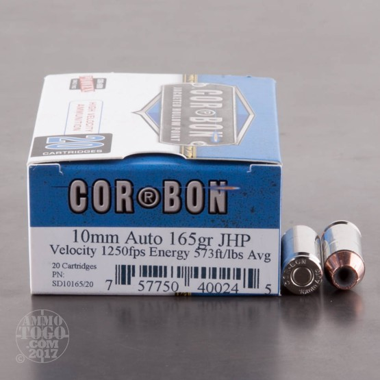 20rds - 10mm Corbon 165gr. HP Ammo