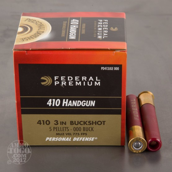 "20rds - 410 Gauge Federal Personal Defense 3"" 000 Buckshot Ammo"