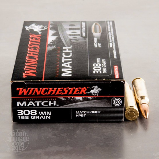 20rds - .308 Winchester Supreme 168gr. BTHP Match Ammo