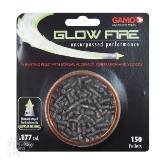 150rds - Gamo Glow Fire Pellets High Performance .177 Cal.