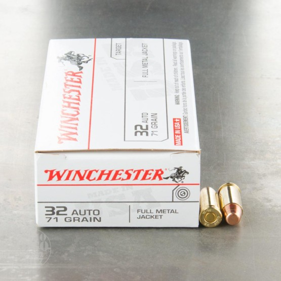 500rds - 32 Auto Winchester USA 71gr. FMJ Ammo