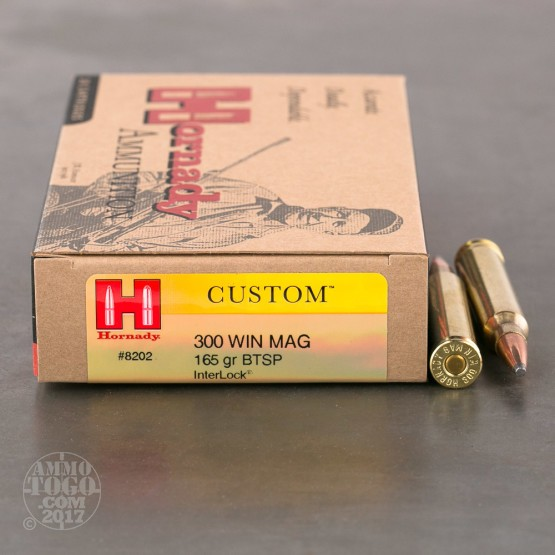 20rds - 300 Win. Mag Hornady 165gr. Soft Point Ammo