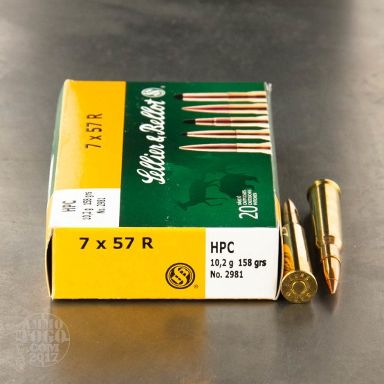 20rds - 7x57 R Sellier and Bellot 158 gr HPC