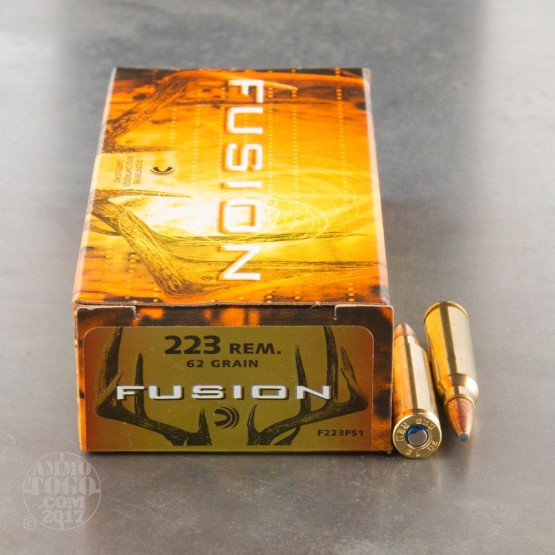 200rds - 223 Federal Fusion 62gr. SP Ammo