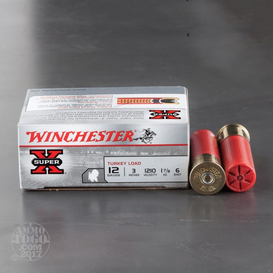 "10rds - 12 Gauge Winchester Super-X 3""  1 7/8oz.  #6 Turkey Load"