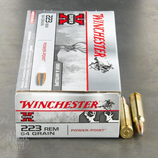 200rds - .223 Winchester Super-X 64gr. Pointed Soft Point Ammo