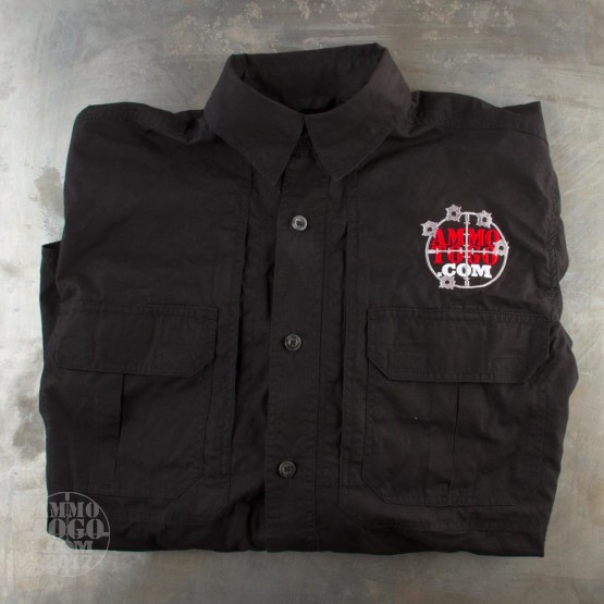 1 - Woolrich Black Long Sleeve Shirt (Small) With Ammo To Go Logo