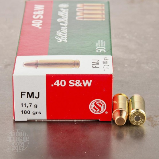 1000rds - 40 S&W Sellier & Bellot 180gr. FMJ Ammo