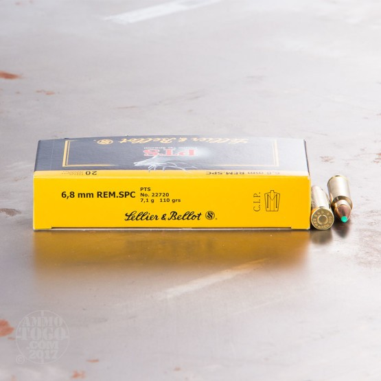 20rds - 6.8 SPC Sellier & Bellot 110gr. Plastic Tip Special Ammo