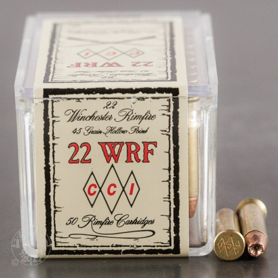 50rds - 22 WRF CCI 45gr. Hollow Point Ammo