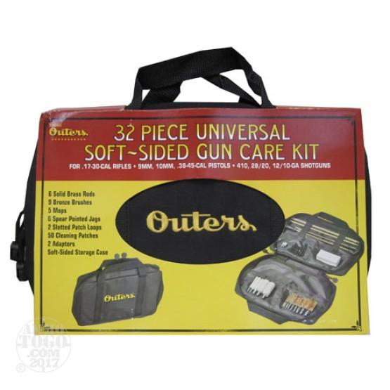 1 - Outers 32-Piece Universal Soft Sided Gun Care Kit