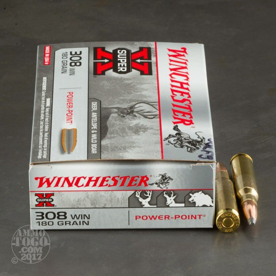 20rds - 308 Winchester 180gr. Super-X Power Point Ammo