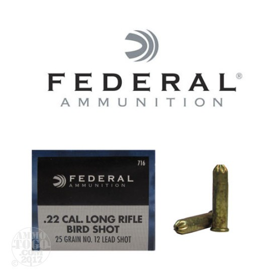 500rds - 22 LR Federal #12 Shot Shotshells