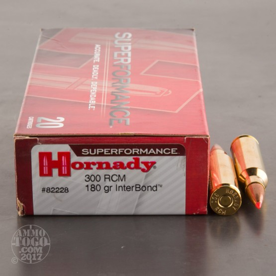 20rds - 300 RCM Hornady Superformance 180gr. InterBond Ammo