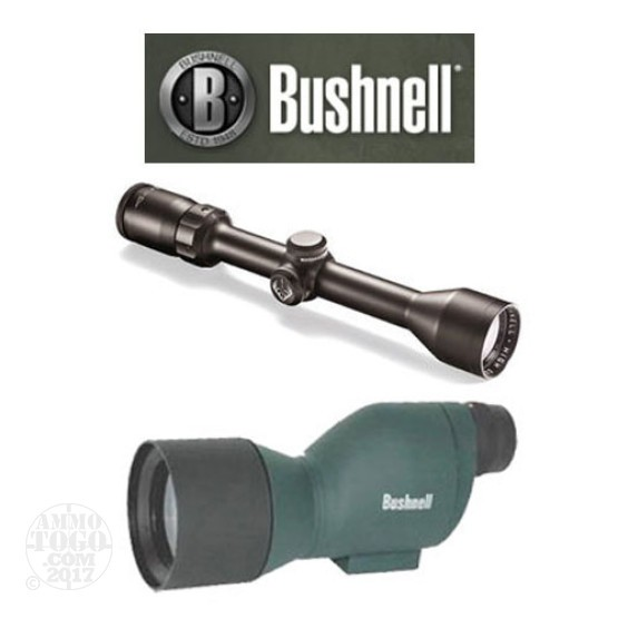 1 - Bushnell Trophy 3-9x40 Matte Riflescope and 20x50 Spotting Scope