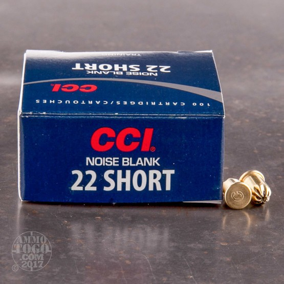 100rds - 22 Short CCI Noise Blanks for Training