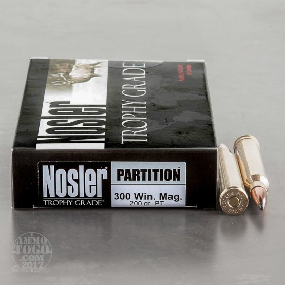 20rds - 300 Win Mag Nosler Trophy Grade 200gr. Nosler Partition SP Ammo
