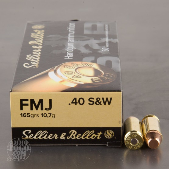 50rds - 40 S&W Sellier & Bellot 165 Grain FMJ Ammo