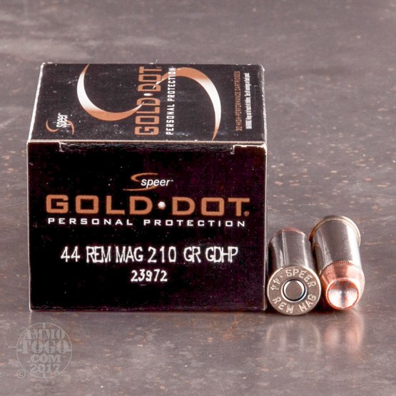20rds - 44 Mag Speer Gold Dot 210gr. Hollow Point Ammo
