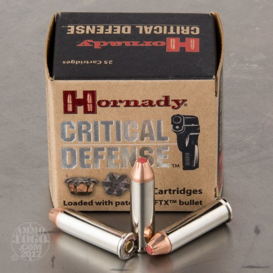 250rds - 357 Mag Hornady Critical Defense 125gr. FTX Hollow Point Ammo