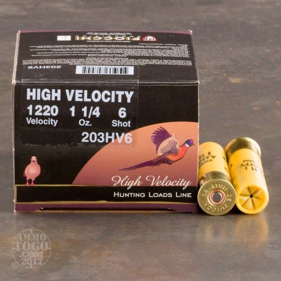 """25rds - 20 Gauge Fiocchi Optima Specific High Velocity 3"""" 1-1/4 Ounce #6 Shot Ammo"""