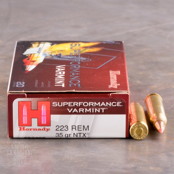 20rds - .223 Hornady Superformance Varmint 35gr. NTX Ammo