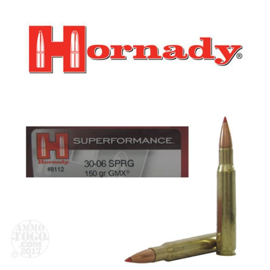 20rds - 30-06 Hornady 150gr. GMX Superformance Ammo