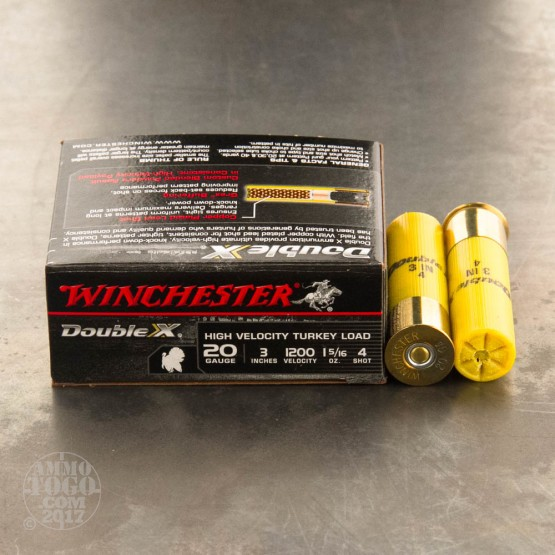 "10rds - 20 Gauge Winchester Supreme High Velocity 3"" 1 5/16oz. #4 Turkey Load"