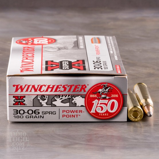 20rds - 30-06 Winchester 180gr. Super-X Power Point Ammo