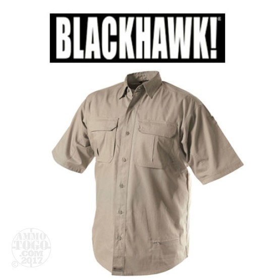 1 - Blackhawk Warrior Wear LW Khaki Tactical Shirt Short Sleeve (Large)