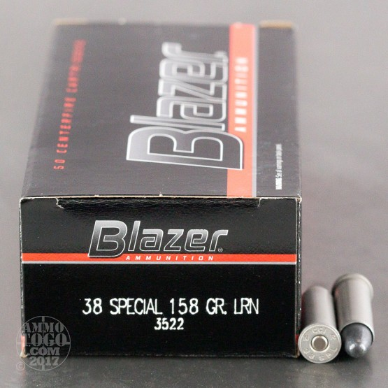 50rds - 38 Special CCI Blazer 158gr. Lead Round Nose Ammo