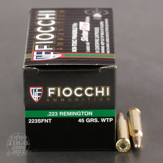 50rds - .223 Fiocchi 45gr. Frangible Ammo