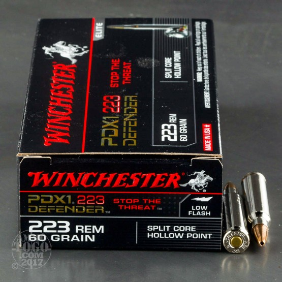 20rds - .223 Winchester PDX1 Defender 60gr. Split Core HP Ammo