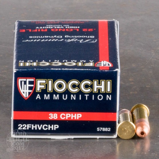 5000rds - 22LR Fiocchi 38gr Copper Plated Hollow Point Ammo