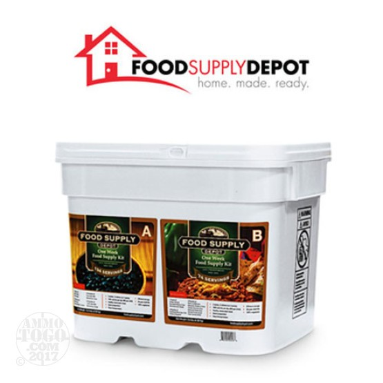 1 - Food Supply Depot 1 Week Food Supply Kit 8 Gallon Bucket With 208 Servings Total