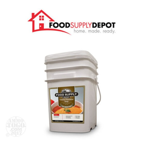 1 - Food Supply Depot Tomato Florentine Soup Bucket 100 Servings