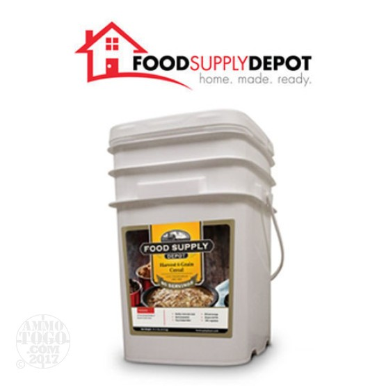 1 - Food Supply Depot Harvest 6 Grain Cereal Bucket 80 Servings