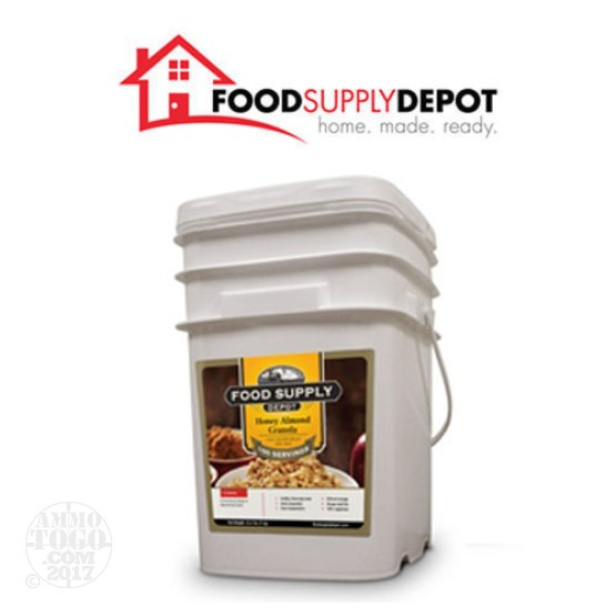 1 - Food Supply Depot Honey Almond Granola Bucket 100 Servings