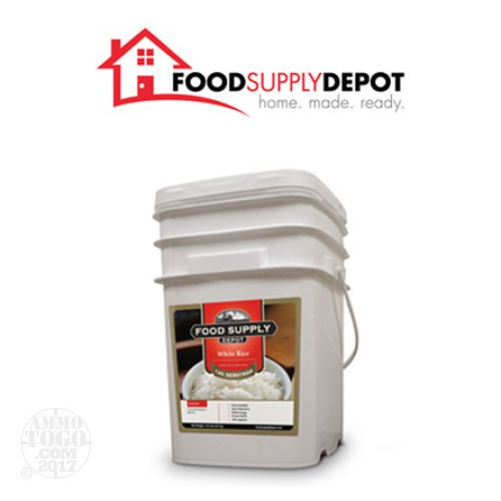 1 - Food Supply Depot White Rice Bucket 120 Servings