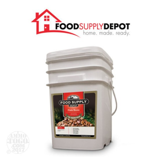 1 - Food Supply Depot Pinto Beans Bucket 120 Servings