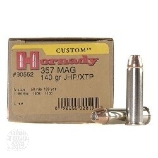25rds - 357 Mag. Hornady 140gr. XTP Hollow Point Ammo