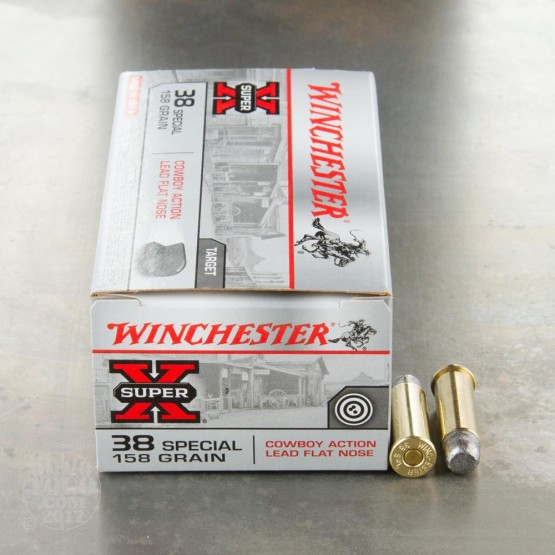 50rds - 38 Special Winchester 158gr. Lead Flat Nose Ammo