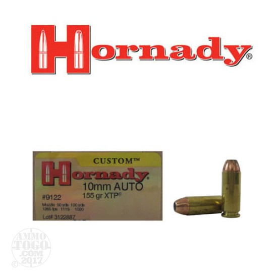 20rds - 10mm Hornady 155gr. XTP Hollow Point Ammo