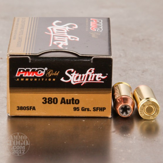 20rds - .380 Auto PMC 95gr. Starfire Hollow Point Ammo