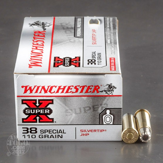 500rds - 38 Special Winchester 110gr. Silvertip Hollow Point Ammo