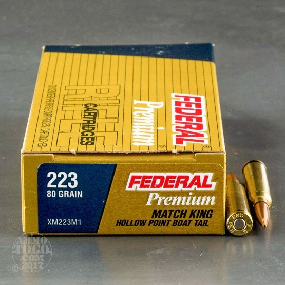500rds - 223 Federal 80gr. Long Range Sniper Ammo
