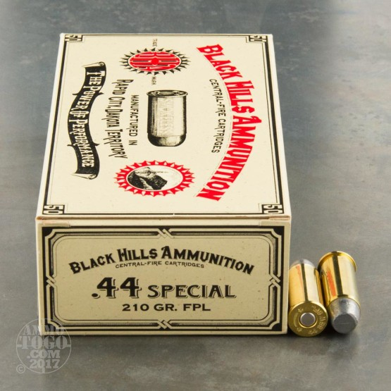 50rds - 44 Special Black Hills 210gr. New Seconds FPL Ammo