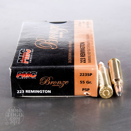 800rds - 223 Rem PMC Bronze Hunting 55gr. SP Ammo